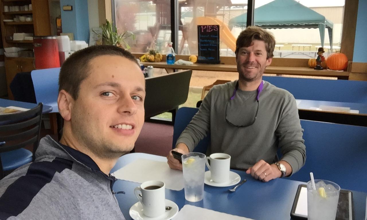 Israel & Luke at Charly's Airport Restaurant