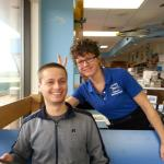 Friendly Waitress at Charly's Airport Restaurant