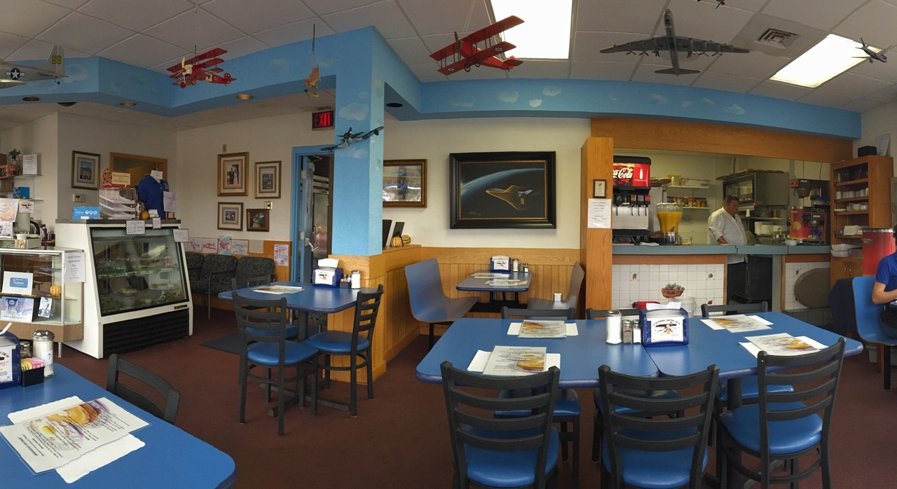 Panoramic View of Charly's Airport Restaurant