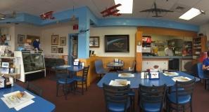 Panoramic View of Charly's Airport Restaurant